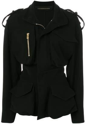 Alexandre Vauthier zip detail cinched waist jacket