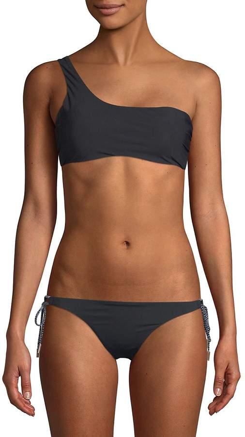 Red Carter Swim Women's One-Shoulder Bikini Top