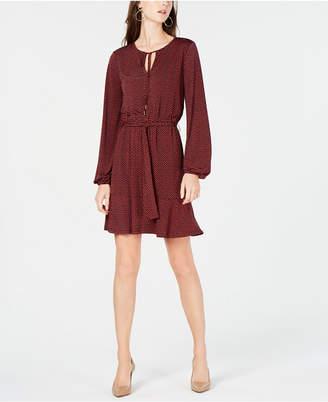 Michael Kors Printed Belted Dress, In Regular & Petite Sizes