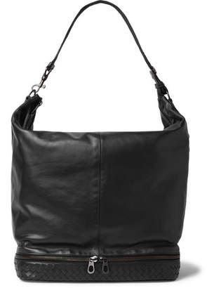 Bottega Veneta Intrecciato-Trimmed Leather Holdall
