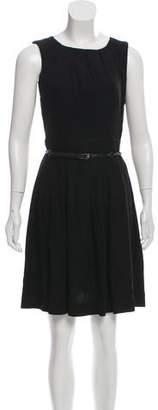 L'Agence Pleated A-Line Dress