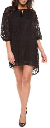 Dex Peasant Sleeve Lace Dress