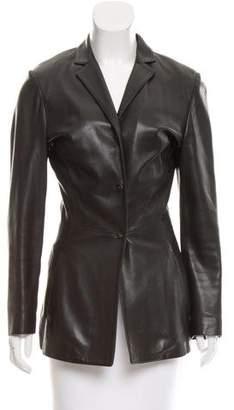Salvatore Ferragamo Tailored Leather Jacket