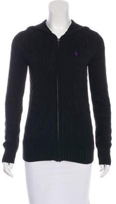 Ralph Lauren Hooded Cable Knit Jacket