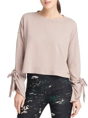 Donna Karan Tie-Sleeve Sweatshirt