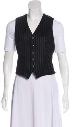 Ralph Lauren Purple Label Pinstripe Wool Vest