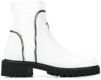 Giuseppe Zanotti zip detail ankle boots