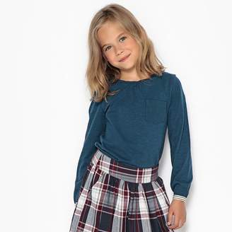 La Redoute Collections Long-Sleeved T-Shirt with Shiny Details, 3-12 Years