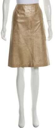 Chanel Metallic Leather Skirt