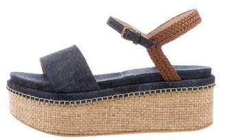Stuart Weitzman Denim Platform Sandals