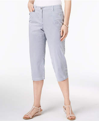 Karen Scott Striped Capri Pants, Created for Macy's