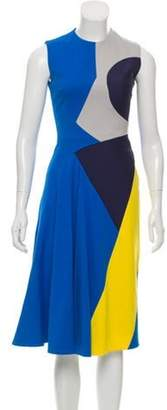 Roksanda Colorblock Sleeveless Dress Blue Colorblock Sleeveless Dress