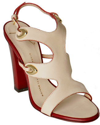 Giuseppe Zanotti cream leather cut-out sandals