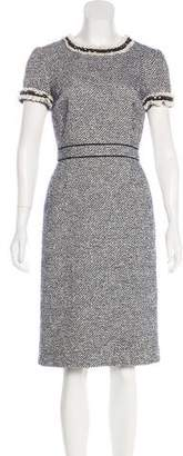 Tory Burch Tweed Embellished Dress