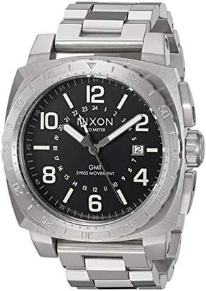 Nixon Men's 'Charger GMT' Swiss Quartz Stainless Steel Casual Watch