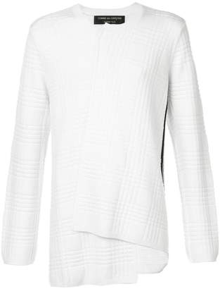 Comme des Garcons asymmetric long-sleeve sweatshirt