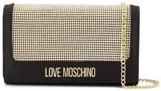 Love Moschino rhinestone embellished clutch bag