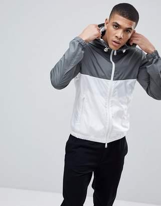 Emporio Armani Nylon Hooded Jacket In Gray