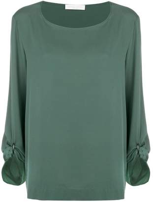 Fabiana Filippi ruched sleeve blouse