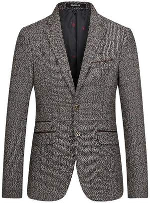 SK Studio Men's Button Big & Tall Outerwear Dress Wool Blazers