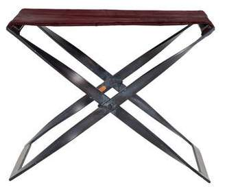 Celestina Iron & Ponyhair Folding Stool