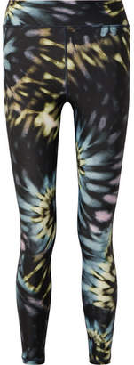 The Upside Tie-dye Stretch Leggings - Navy