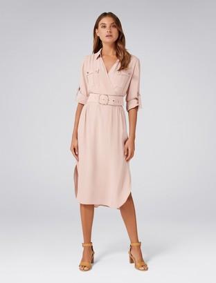 Forever New Imogen Petite Safari Shirt Dress - Wild Blossom - 4