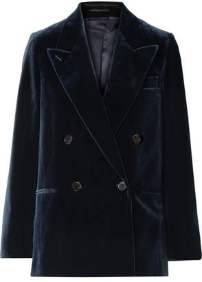 Acne Studios Double-breasted Cotton-velvet Blazer - Navy
