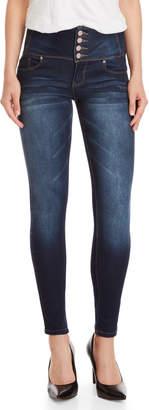 YMI Jeanswear 4-Button High-Waisted Skinny Jeans
