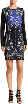 Roberto Cavalli Star Print Sheath Dress
