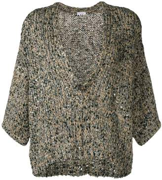 Brunello Cucinelli cropped sequinned cardigan