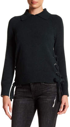 Frame Denim Lace Up Side Cropped Cashmere Sweater $495 thestylecure.com