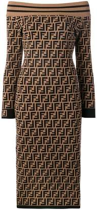 Fendi all-over logo dress