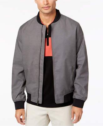 Alfani Men's Ribbed Bomber Jacket