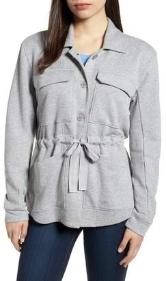 Caslon Knit Utility Jacket (Regular & Petite)