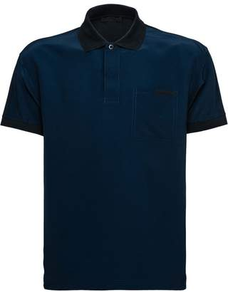 Prada two tone polo shirt