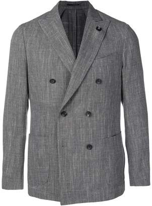 Lardini double breasted suit jacket