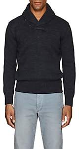 Rrl Men's Shawl-Collar Cotton Sweater-Navy Size Xl