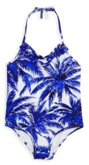 Milly Minis Toddler's, Little Girl's & Girl's One-Piece Ruffle Swimsuit