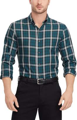 Chaps Men's Regular-Fit Plaid Button-Down Shirt