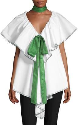 Rosie Assoulin Women's Sleeveless Envelope Top