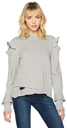 Wilt Women's Hoodie Ruffle Cold Shoulder Sweatshirt