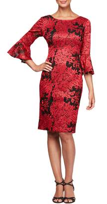 Alex Evenings Embroidered Lace Shift Dress