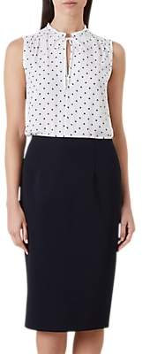 Hobbs Caitlyn Pencil Skirt, Navy