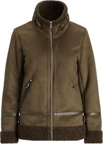 Faux-Shearling Bomber Jacket