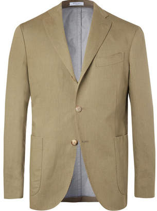 Boglioli Olive Linen And Cotton-Blend Twill Blazer