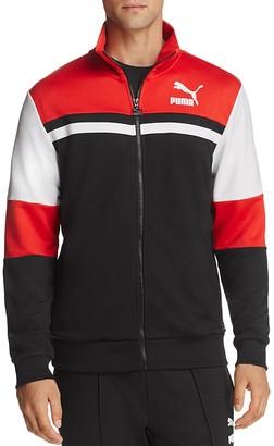 PUMA Super Puma T7 Color-Block Track Jacket $80 thestylecure.com