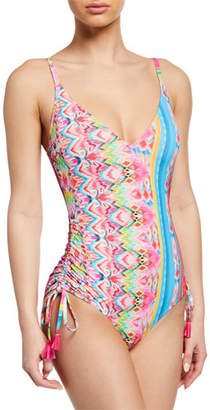 Johnny Was Plus Plus Size Francesca Printed One-Piece Swimsuit