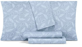 Aq Textiles Closeout! Aq Textiles Printed Modernist 4-Pc Queen Sheet Set, 350 Thread Count Cotton Blend Bedding