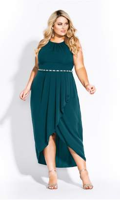 City Chic Citychic Lovestruck Maxi Dress - emerald